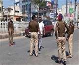 बिना मास्क घर से बाहर घूमने वालों पर पुलिस कर रही कार्रवाई, चार गिरफ्तार