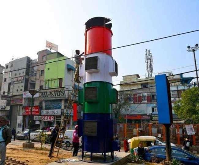 स्माग टावर प्रति सेंकड 960 घन मीटर दूषित हवा को वातावरण से खींचने में सक्षम होगा।