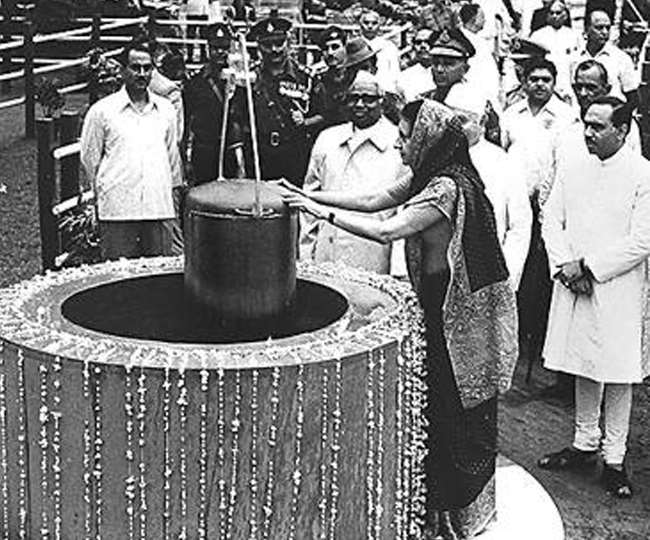 Indira Gandhi placed time capsule 50 feet below in Red Fort