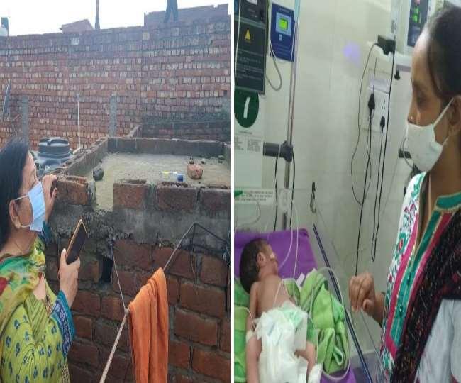 यमुनानगर में युवती ने नवजात को जन्म दे छत पर रखा।