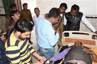 प्रधान शिक्षक को गोली मार दो लाख रुपये की लूट