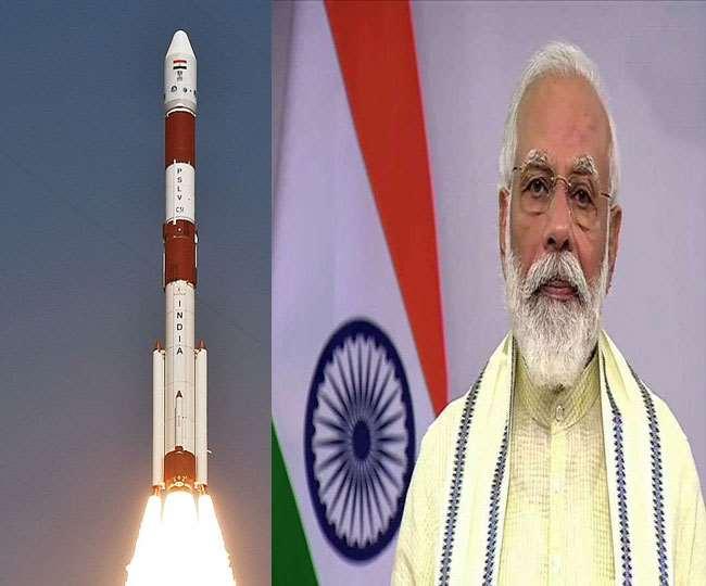 इसरो ने अंतरिक्ष में भेजी पीएम मोदी और भगवद्गीता। (फोटो: इसरो/दैनिक जागरण)