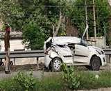 चौगिट्टी फ्लाईओवर पर कार एक्सीडेंट में ASI की मौत, हाइवे पर पानी जमा होने से हुआ हादसा