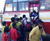 Lockdown Day 4: बस स्टेशनों पर अचानक यात्रियों की भीड़, मचा हड़कंप, डीजीपी, कमिश्नर ने लिया जायजा