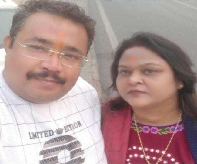 पंकज और शैलजा शर्मा की फाइल फोटो।