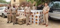 ट्रक में 170 पेटी अंग्रेजी शराब बरामद, तीन गिरफ्तार