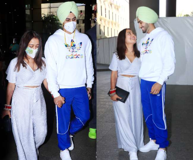Neha Kakkar And Rohanpreet Singh Spotted At Mumbai Airport, Check All Photos Here