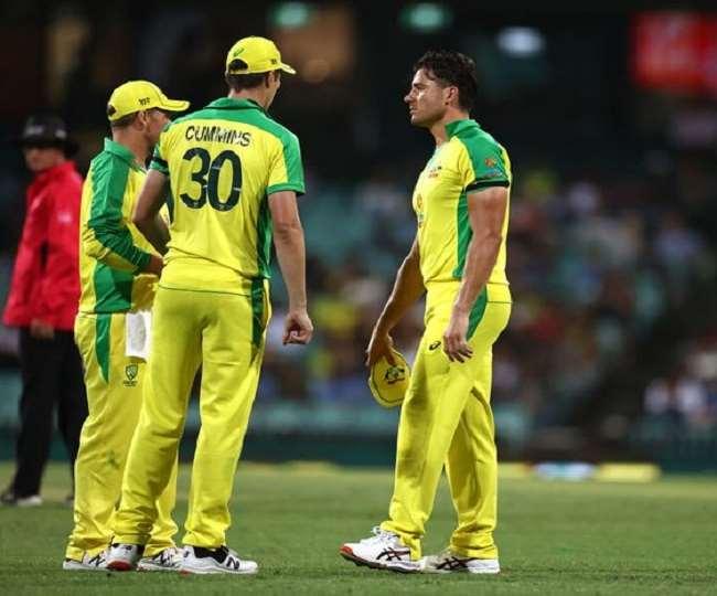 ऑस्ट्रेलिया के ऑलराउंडर मार्कस स्टोइनिस मैच के दौरान (फोटो ट्विटर पेज)