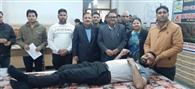 दूसरे शिविर में 60 विद्यार्थियों व स्टाफ ने किया रक्तदान