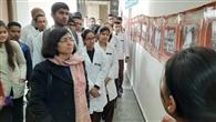 छात्रों ने पोस्टर प्रदर्शनी का किया अवलोकन