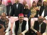 जौनपुर पहुंचे सपा मुखिया अखिलेश यादव बोले - 'बीजेपी को देश में नफरत फैलाने की बीमारी'