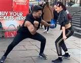 नोरा फतेही लंदन में बनी 'स्ट्रीट डांसर', जमकर किया डांस, देखें वायरल Video