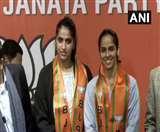 बैडमिंटन खिलाड़ी साइना नेहवाल हुई BJP में शामिल, बहन चन्द्रांशु ने भी ली सदस्यता