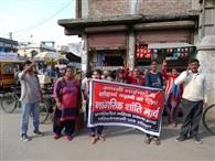 दिल्ली में सांप्रदायिक हिंसा के खिलाफ निकाला शांति मार्च