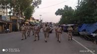 दीनानगर में पुलिस ने निकाला फ्लैग मार्च