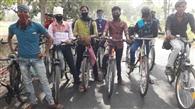चेन्नई से 21 प्रवासी, 21वें दिन साइकिल से पहुंचे घर