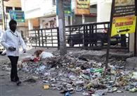 सफाईकर्मियों की संख्या आधी, शहर में जगह-जगह लगे कूड़े के ढेर
