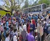 Coronavirus Lockdown : ..तो दिल्ली से इसलिए हुआ मजदूरों का पलायन, सुनें- मजदूरों की जुबानी Gorakhpur News