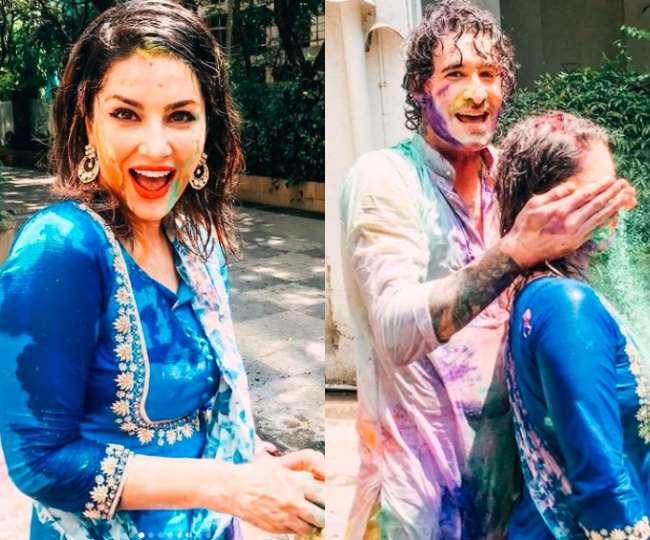 Sunny Leone Holi 2021: होली पर पति संग सनी लियोनी का जबरदस्त रोमांस, यहां देखें बच्चों संग उनकी Colorful तस्वीरें