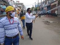 केमिस्ट एसोसिएशन ने सैनिटाइज के छिड़काव को 60 गांवों को लिया गोद