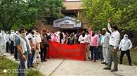 पीटीआइ अध्यापकों के समर्थन में संघ ने मनाया काला दिवस