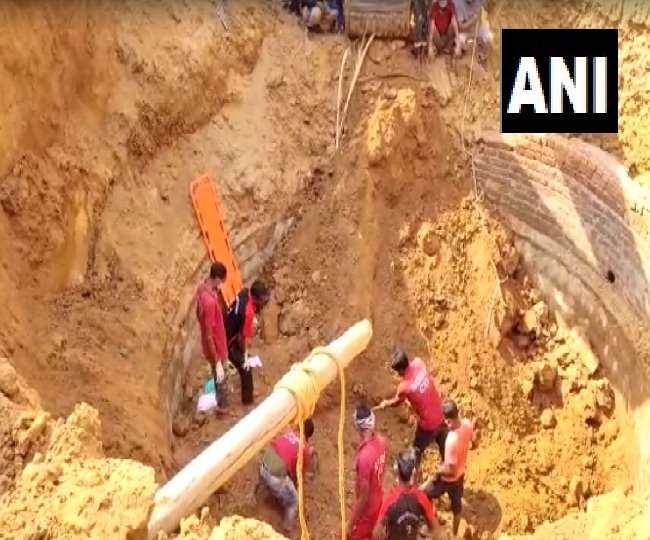 छत्तीसगढ़ के सूरजपुर जिले में रविवार को भूस्खलन से बोरवेल में फंसने से 3 मजदूरों की मौत हो गई।
