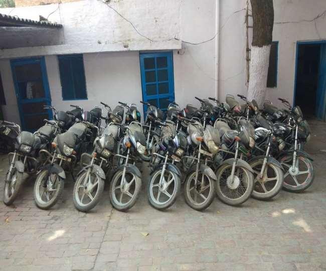 पानीपत पुलिस ने 19 बाइकें चोरी करने वाले गिरोह का पर्दाफाश किया।