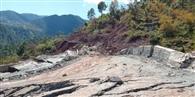 भूस्खलन के चलते क्षतिग्रस्त हुआ कटली मार्ग