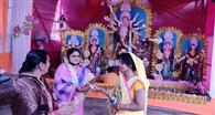 सादगी के साथ मनाई जा रही चैती दुर्गापूजा