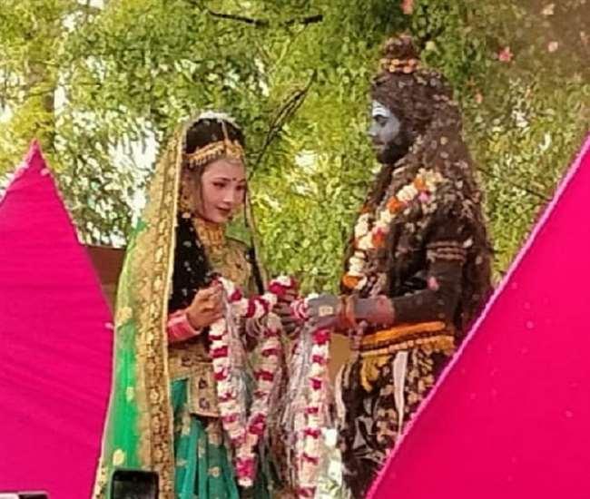 शिवली में निकाली गई शिव बरात और हुआ विवाह।