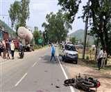रामगढ़ में टेंपो व बाइक में भीषण टक्कर, एक की मौत, एक अन्य गंभीर Ramgrah News
