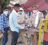 बिना मास्क के घूमने वाले लोगों से छह हजार वसूले Moradabad News
