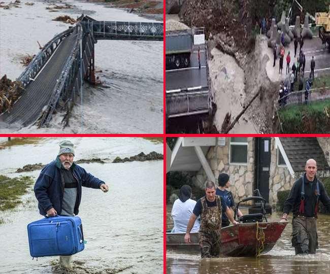 न्यूजीलैंड के कैंटरबरी में भारी बारिश के बाद हालात खराब