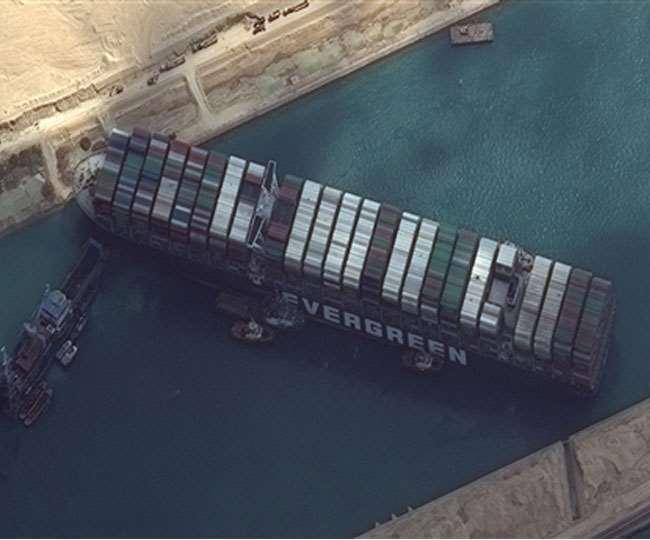 मिस्त्र के स्वेज नहर प्राधिकरण ने जापान की कंपनी से मांगा हर्जाना (फोटो: दैनिक जागरण)