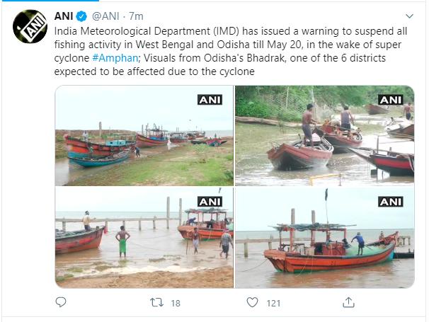 ओडिशा तट के करीब पहुंचा साइक्लोन Amphan बारिश शुरू- Hindi News Bihar