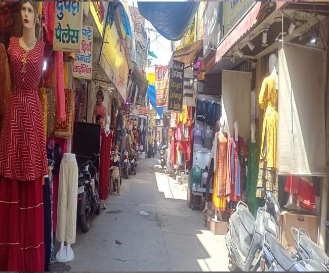 Panipat Market open under lockdown