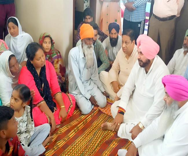 Sidhu arrives in Jalandhar