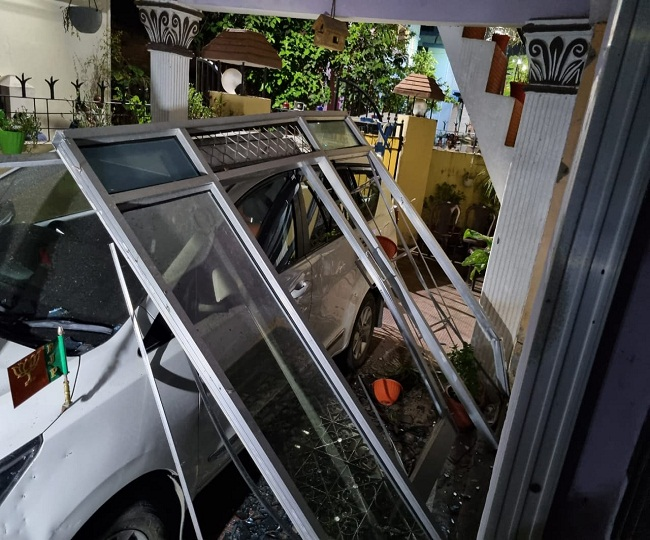 A blast took place at the BJP District President Nainital, Pradeep Bisht's residence at 12:30 AM on Tuesday night