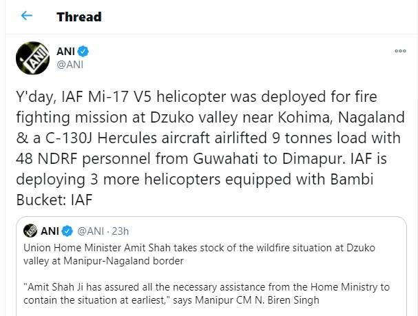 3 more helicopters put up to extinguish the fire of the Dajuko range on the Manipur-Nagaland border Funny Jokes