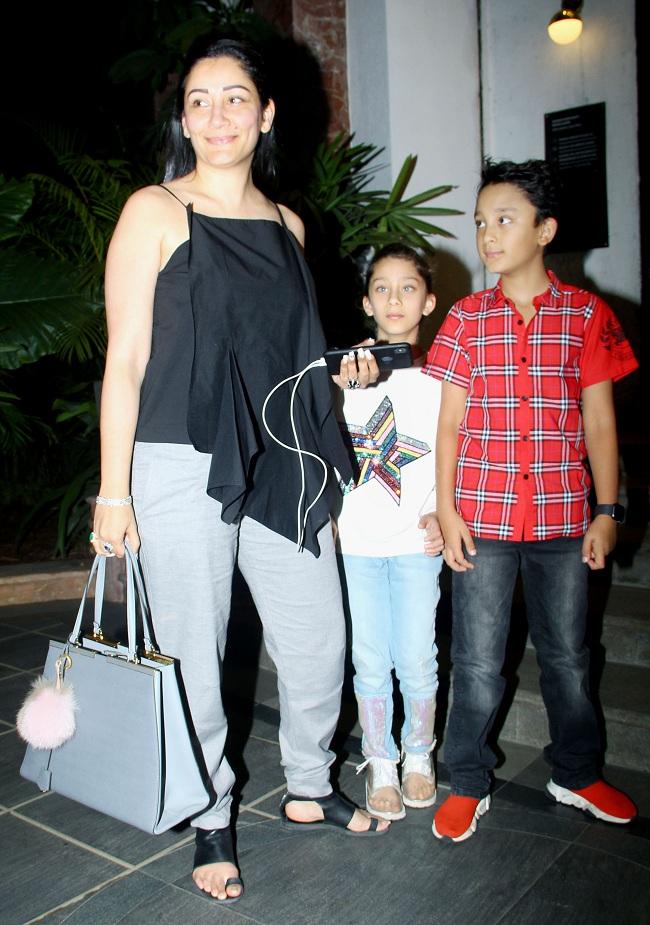 IN PICS Sanjay Dutt Wife Manyata Dutt Spotted With Children