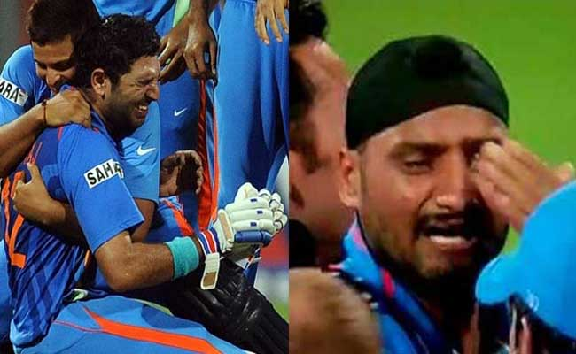 these cricketers could not stop themselves from crying