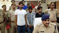 पुलिस मुठभेड़ में तीन शातिर गिरफ्तार