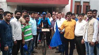 साइकिल से स्कूल घूमने निकला केयू का छात्र