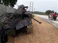 जीप-ट्रेलर की भिड़ंत में पांच की मौत