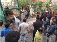 देवपुरी में डेयरियों पर चला डंडा