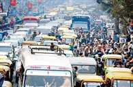 ट्रैफिक जाम की राजधानी बना लखनऊ