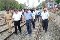 सारनाथ रूट पर सीआरएस ने किया स्पीड ट्रायल