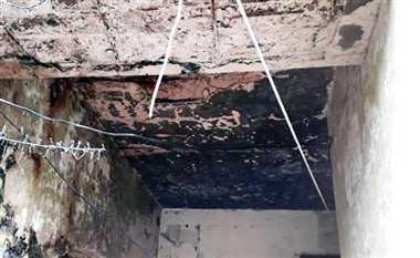 बक्शीपुर बिजली सब स्टेशन की जर्जर छत गिरी