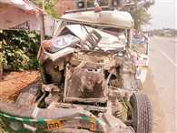 ट्रक-एंबुलेंस की टक्कर में दो लोगों की गई जान