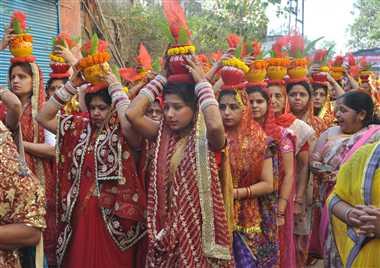 चैत नवरात्र के पूर्व निकली भव्य कलशयात्रा
